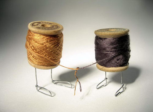 Thread Shaking Hands by Terry Border