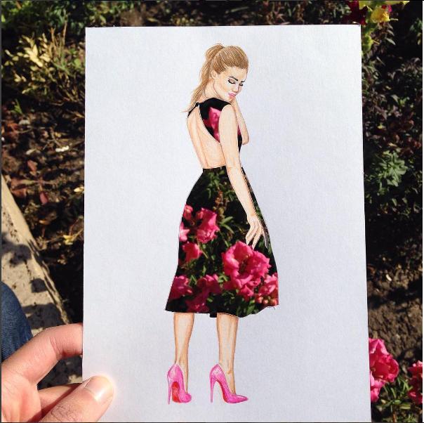 Edgar Artis flower dress papercut